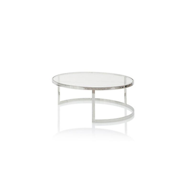 Столик PianoКофейные столики<br>Кофейный столик на основании из нержавеющей стали. Столешница выполнена из плотного прозрачного стекла.<br><br>Material: Стекло<br>Height см: 35<br>Diameter см: 90
