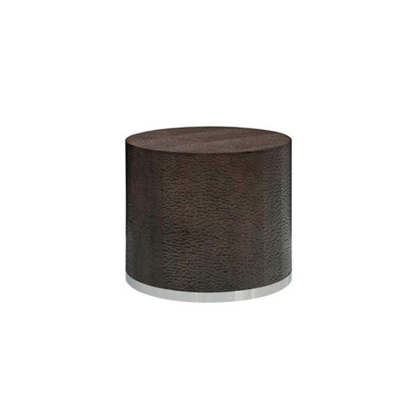 Пуф RapidoФорменные пуфы<br>Пуф на колесиках на основании из нержавеющей стали. Отделка из фактурного дерева коричневого цвета<br><br>Material: Дерево<br>Height см: 37<br>Diameter см: 44