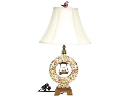 Декоративная лампа (glasar) бежевый 35x63x35 см.