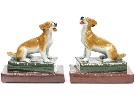 Держатели для книг собачки (2 шт) (glasar) коричневый 10x17x17 см.