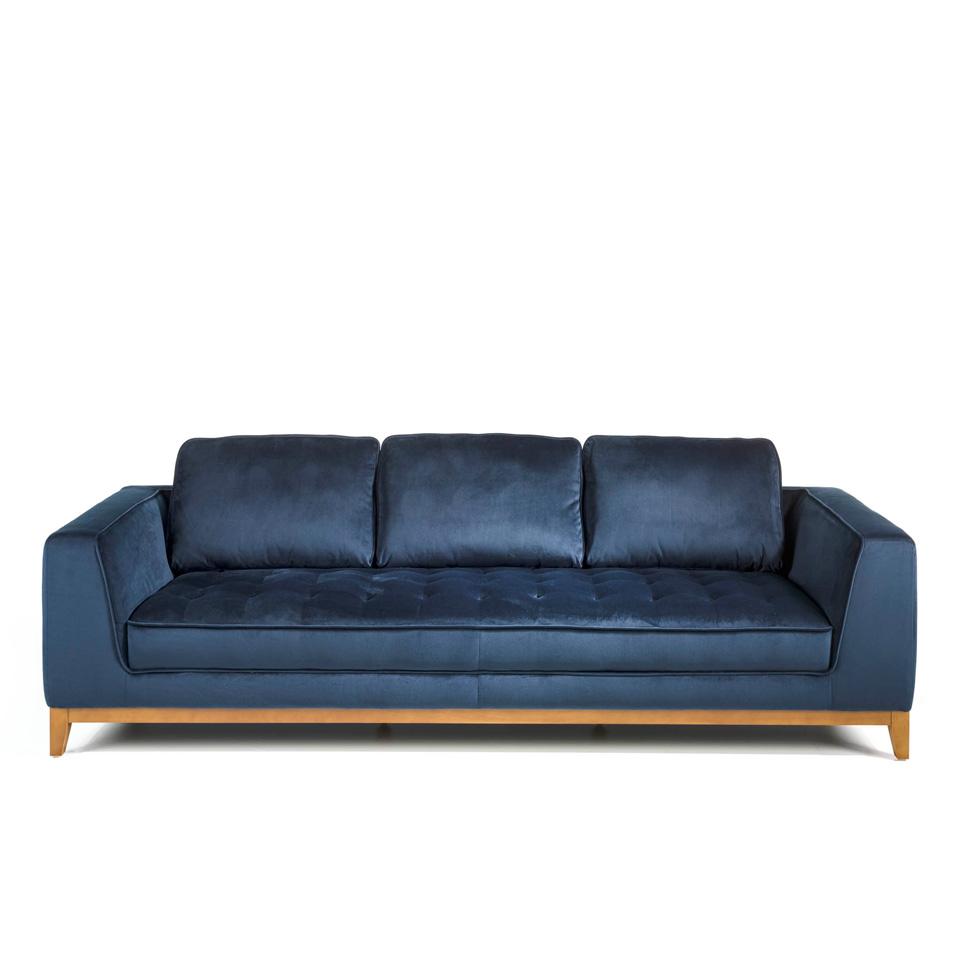 Angel cerda диван трехместный синий 125685/9