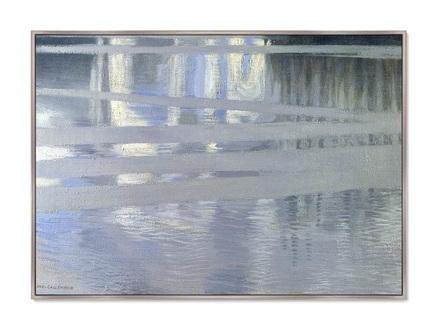 Картина lake keitele 1905г. (картины в квартиру) мультиколор 105x75 см.
