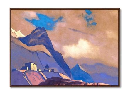 Картина тибет. у брахмапутры 1936г. (картины в квартиру) мультиколор 105x75 см.