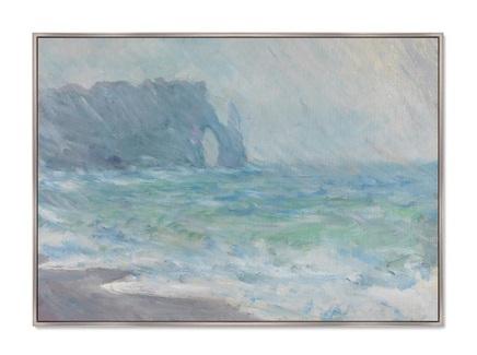 Картина the manneport etretat in the rain 1886г. (картины в квартиру) мультиколор 105x75 см.
