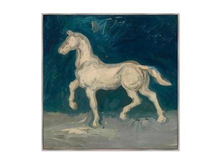 Картина horse 1886г. (картины в квартиру) мультиколор 105x105 см.