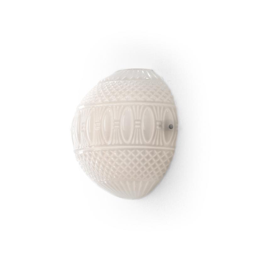 Бра ArabesqueБра<br>Настенный светильник выполнен из стекла белого цвета с фигурным орнаментом. Цвет арматуры: никель.<br>2X MAX 60W E14<br><br>Material: Стекло<br>Width см: 30.0<br>Depth см: 14.0<br>Height см: 30.0