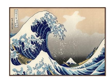 Картина большая волна в канагаве 1832г. (картины в квартиру) мультиколор 105x75 см.