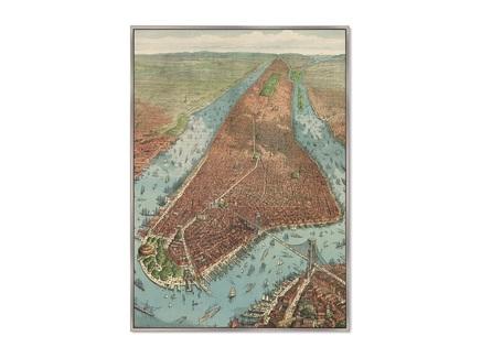 Картина antique map of new york city 1879г. (картины в квартиру) мультиколор 75x105 см.