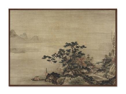 Картина autumn landscape in the style of sessh (картины в квартиру) мультиколор 105x75 см.