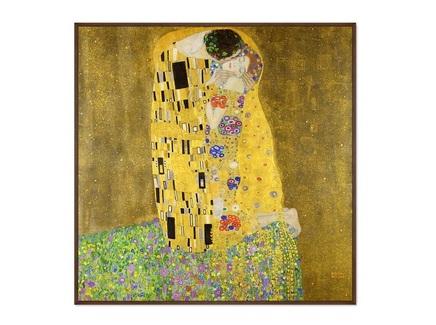 Картина the kiss 1907г. (картины в квартиру) мультиколор 105x105 см.