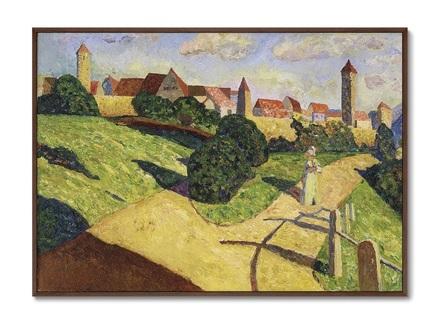 Картина alte stadt ii , 1902г. (картины в квартиру) мультиколор 105x75 см.