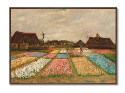 "Картина ""Flower beds in Holland"" 1883г."