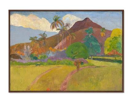 Картина tahitian landscape 1891г. (картины в квартиру) мультиколор 105x75 см.