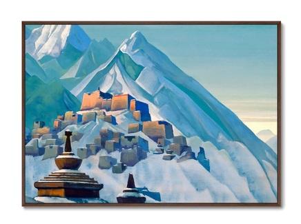 Картина тибет. гималаи 1933г. (картины в квартиру) мультиколор 105x75 см.