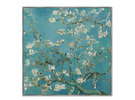 Картина цветущие ветки миндаля 1890г (картины в квартиру) мультиколор 105x105 см.