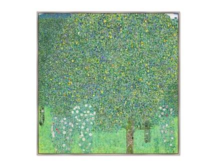 Картина розы под деревьями 1905г (картины в квартиру) мультиколор 105x105 см.