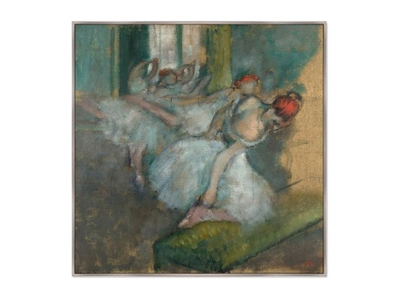Картина балерины 1890г. (картины в квартиру) мультиколор 105x105 см.