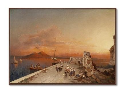 Картина терпкий закат 1895г. (картины в квартиру) мультиколор 105x75 см.
