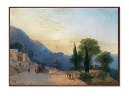 Картина летний день в крыму 1867г. (картины в квартиру) мультиколор 105x75 см.