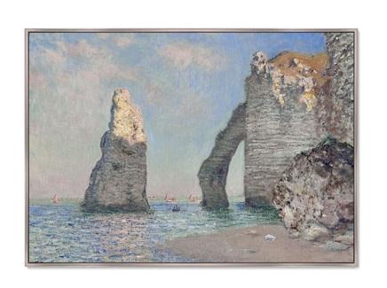 Картина the rock needle and the porte d aval 1885г. (картины в квартиру) мультиколор 105x75 см.