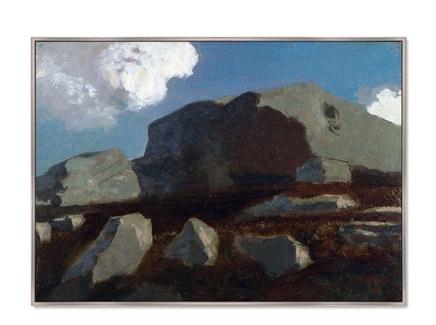 Картина landscape with rocks, near royan 1875г. (картины в квартиру) мультиколор 105x75 см.