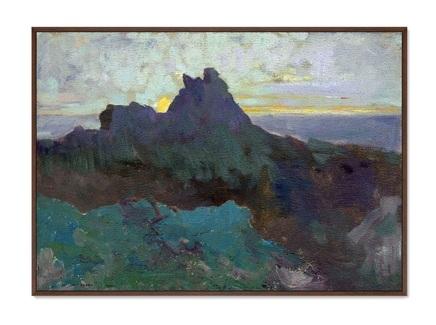 Картина rocky peak 1875г. (картины в квартиру) мультиколор 105x75 см.