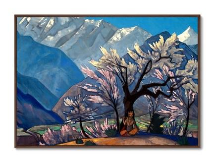 Картина кришна .весна в кулу 1930г. (картины в квартиру) мультиколор 105x75 см.