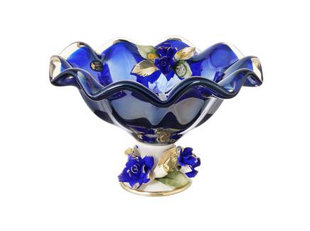 Конфетница white cristal (white cristal) синий