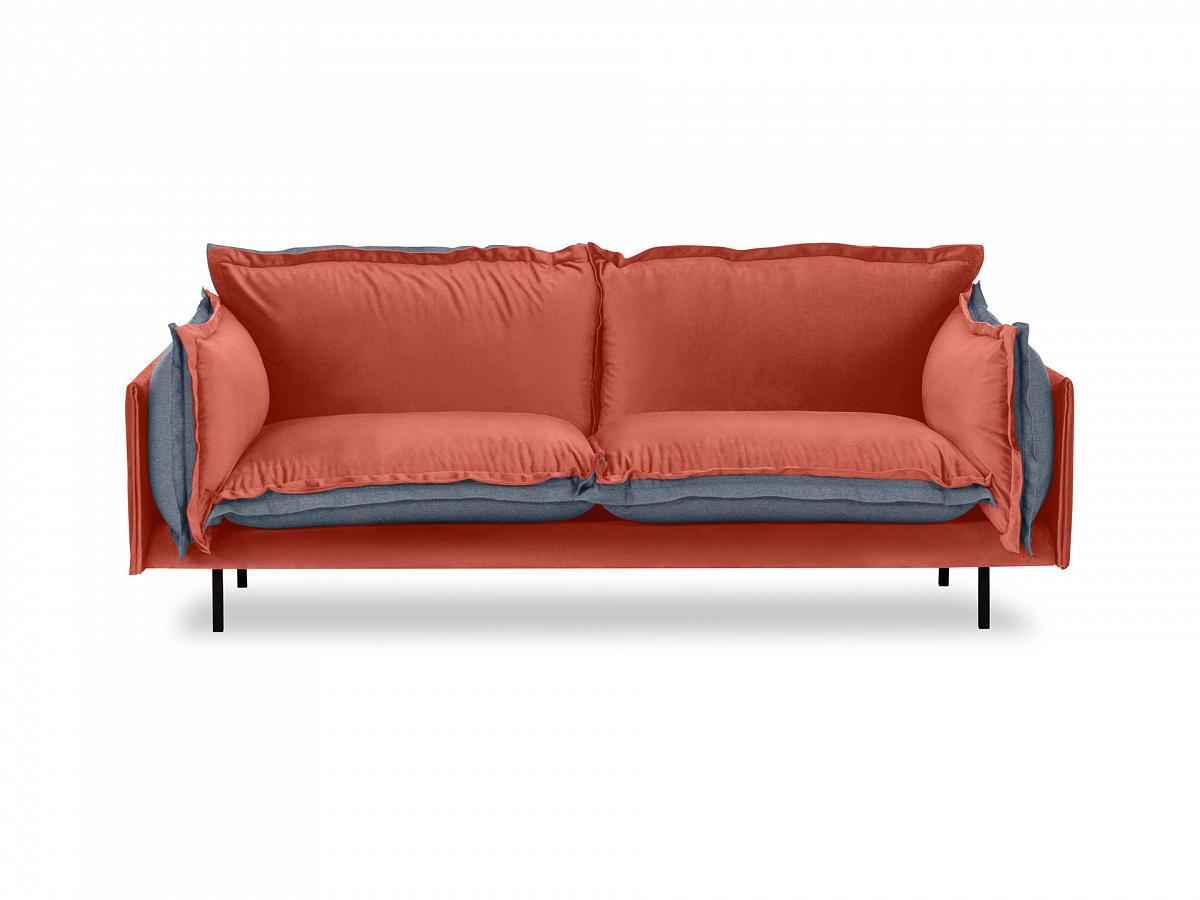 Ogogo диван двухместный barcelona оранжевый 126123/5