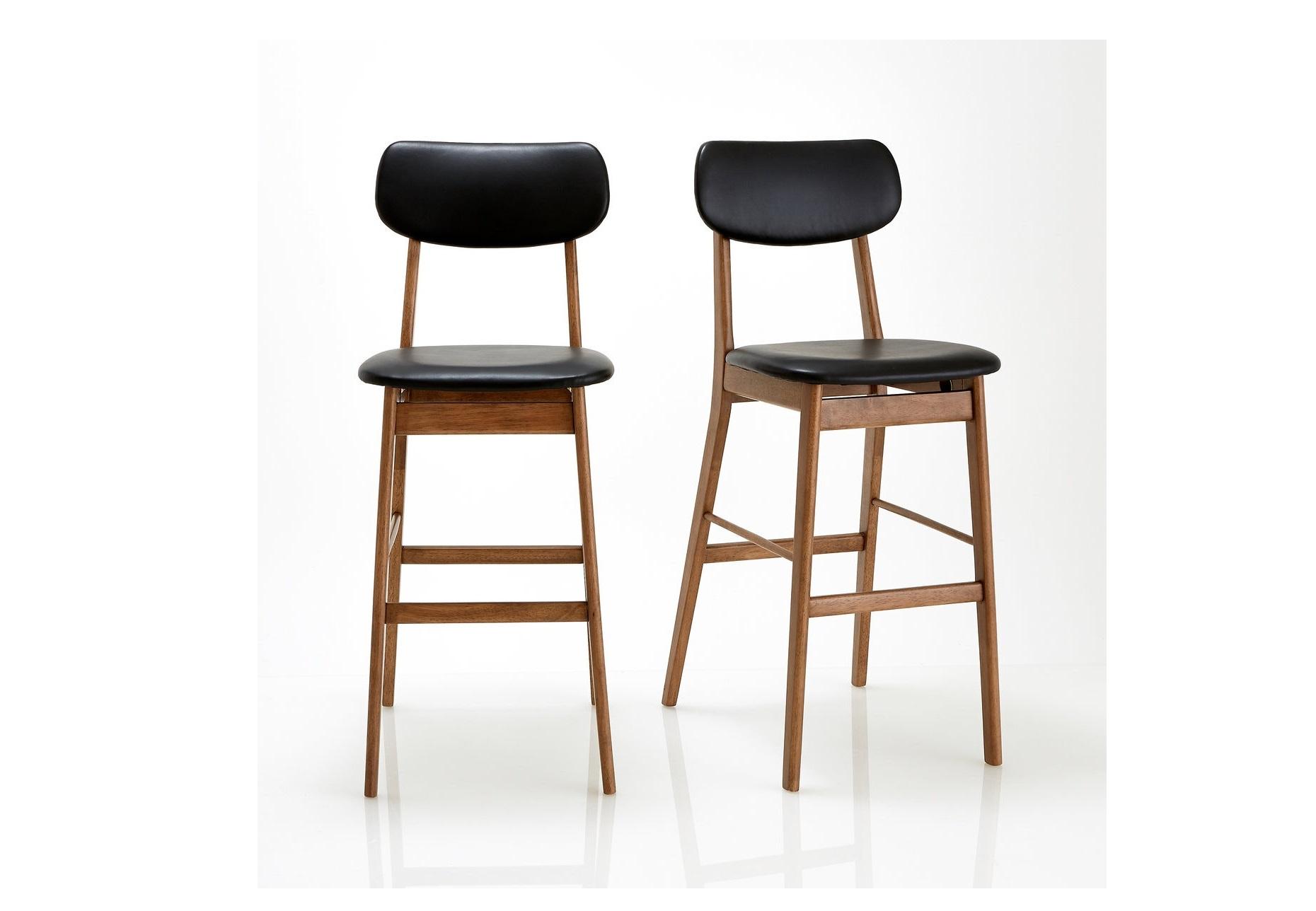 Набор барных стульев watford (laredoute) черный 44x110x61 см.