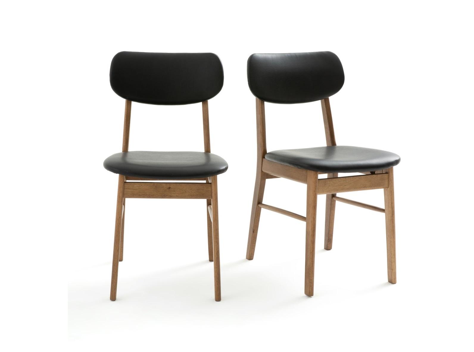 Набор стульев watford (laredoute) черный 43x81x55 см.