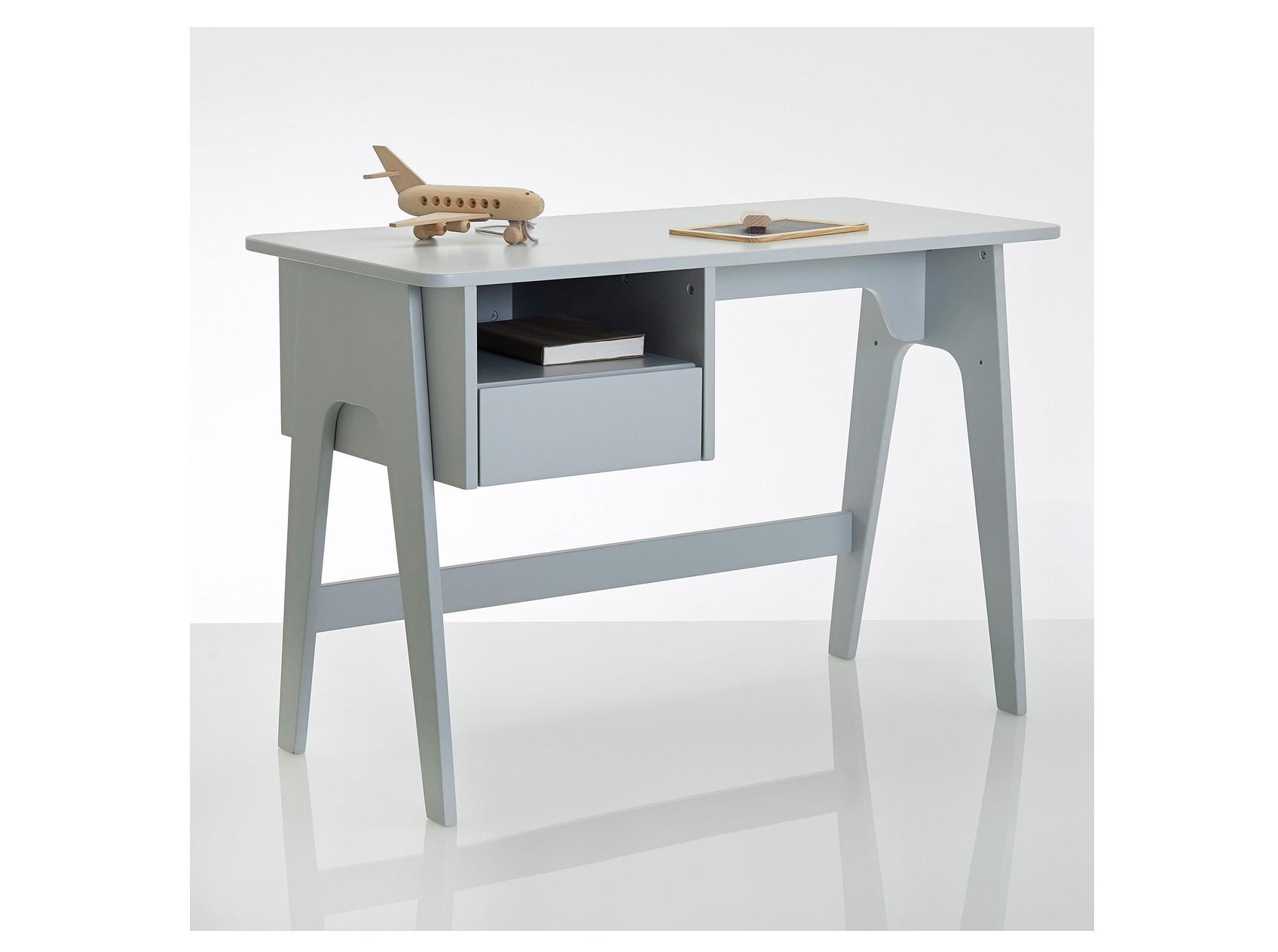 Письменный стол в стиле ретро adil (laredoute) серый 110x75x55 см.