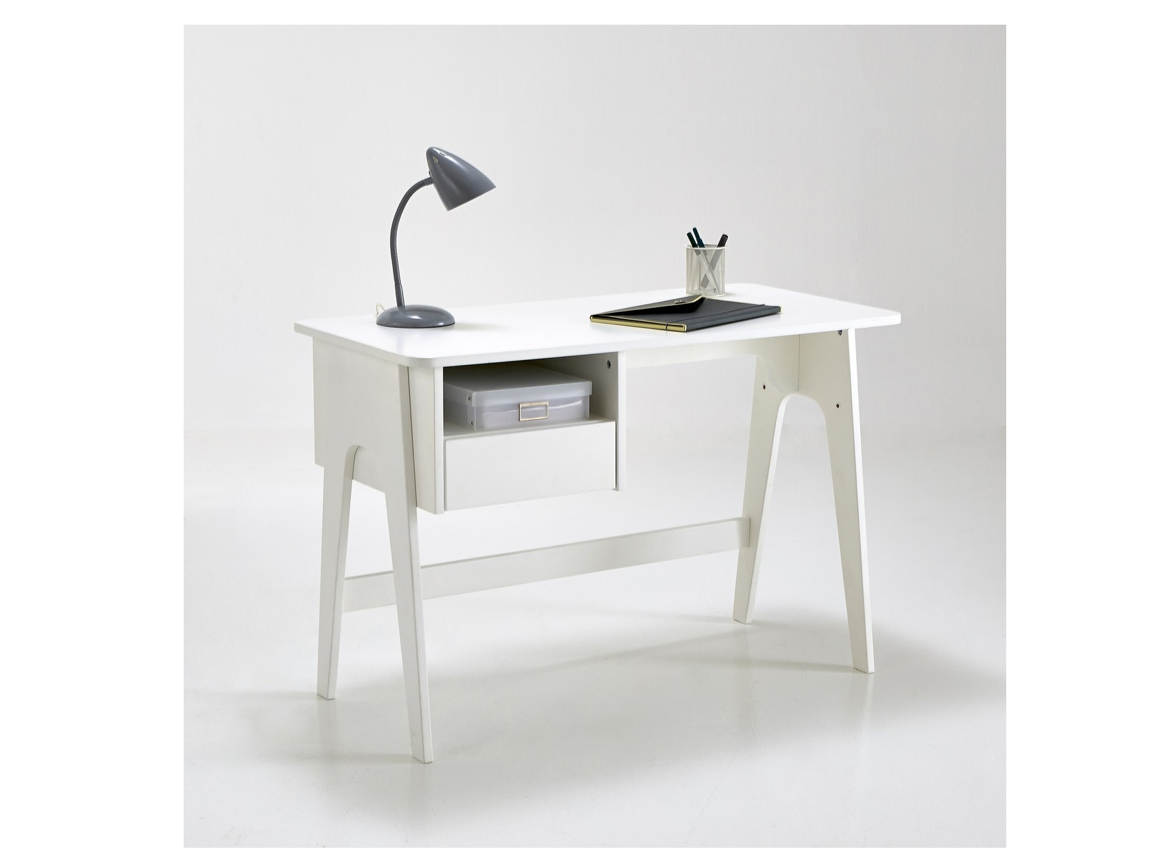 Письменный стол adil (laredoute) белый 110x75x55 см.