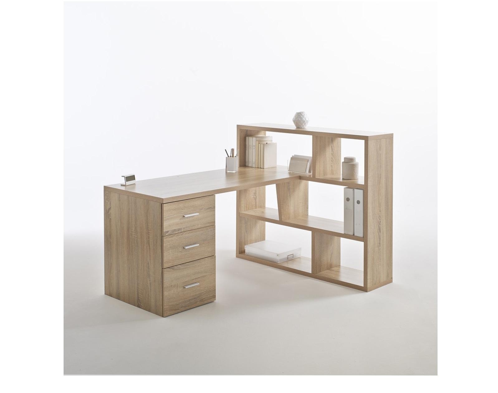 Письменный стол с шкафом для книг fénon (laredoute) белый 119x72x59 см.
