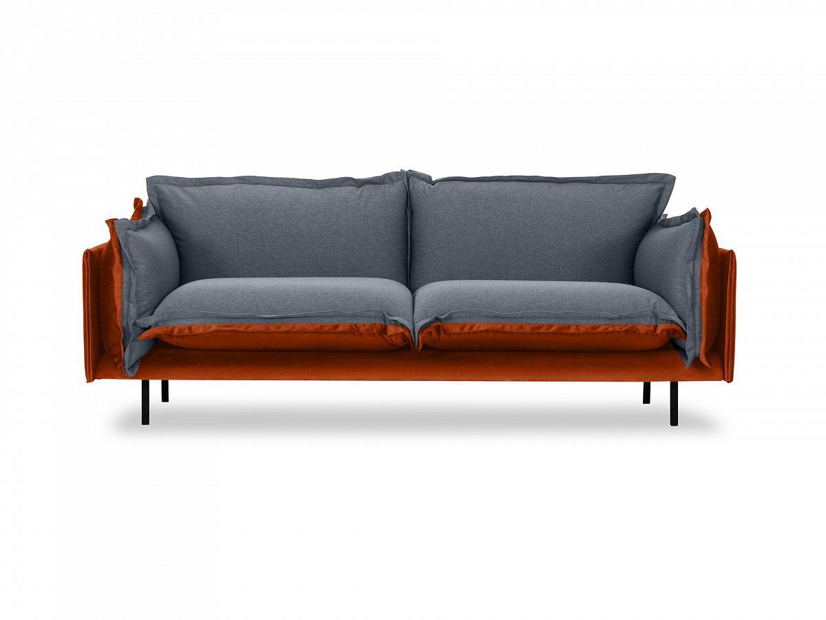 Ogogo диван двухместный barcelona серый 126194/7