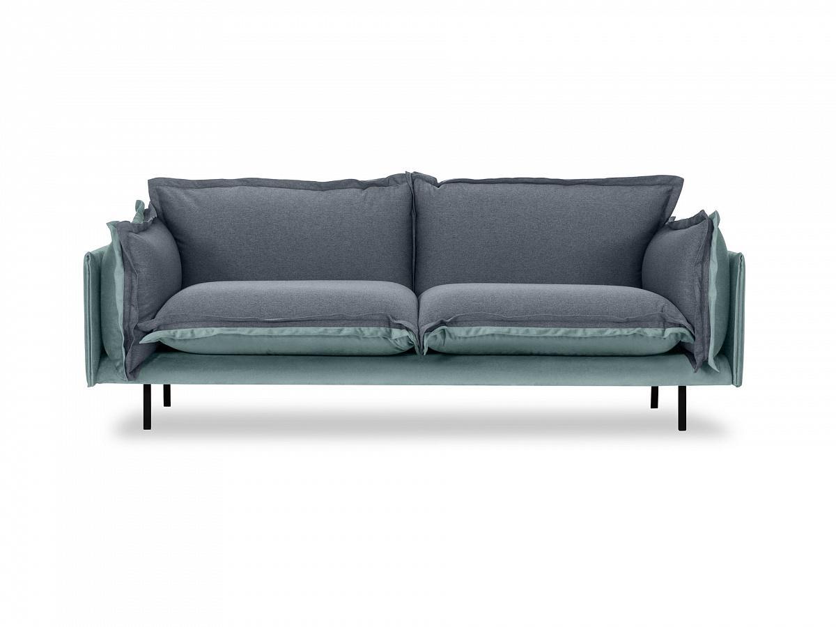 Ogogo диван двухместный barcelona серый 126215/2