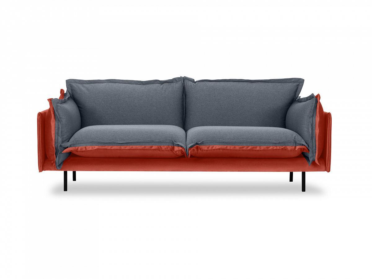 Ogogo диван двухместный barcelona серый 126216/9