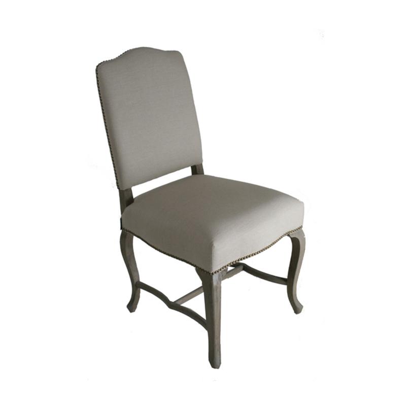 Стул Marie ClaireОбеденные стулья<br>Стул выполнен из массива дерева, обит льняной тканью серовато-бежевого цвета.<br><br>Material: Текстиль<br>Width см: 50<br>Depth см: 64<br>Height см: 102