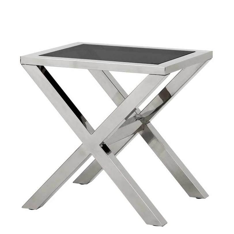 Стол Gramercy ParkПриставные столики<br>Основание выполнено из нержавеющей стали, с отделкой стального цвета. Прямоугольная столешница из стекла дымчатого цвета.<br><br>Material: Сталь<br>Width см: 60<br>Depth см: 50<br>Height см: 60