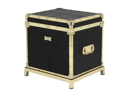 Flightcase Black Leather Eichholtz