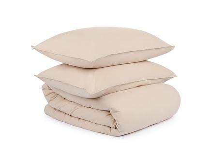 Комплект постельного белья essentiall- beige (tkano) 200x220 см.