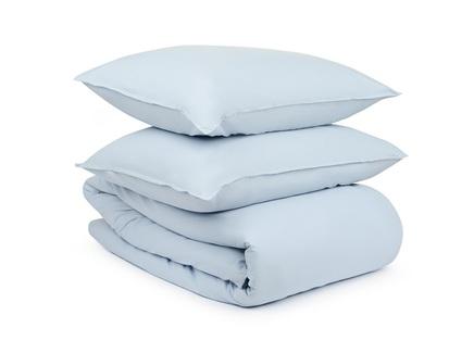 Комплект постельного белья essential (tkano) голубой 150x200 см.