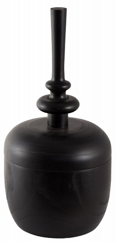 Ваза Finial Wood VaseВазы<br>Ваза в стиле лофт из натурального дерева темного цвета будет эффектно смотреться в лаконичном пространстве. Благодаря съемной части с тонким резным горлышком можно придумать универсальное назначение вазе.<br><br>Material: Дерево<br>Height см: 52<br>Diameter см: 25