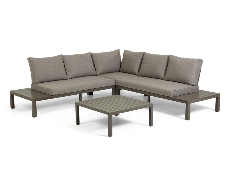 La forma модульный угловой диван и стол duka коричневый 127779/4