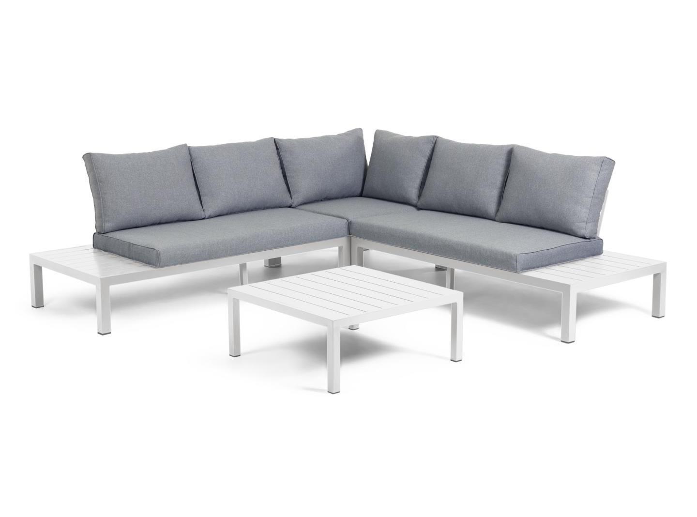 La forma модульный угловой диван и стол duka серый 127780/1
