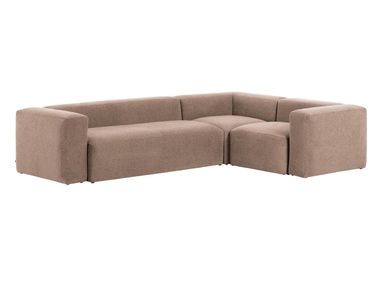La forma угловой диван blok розовый 127783/5