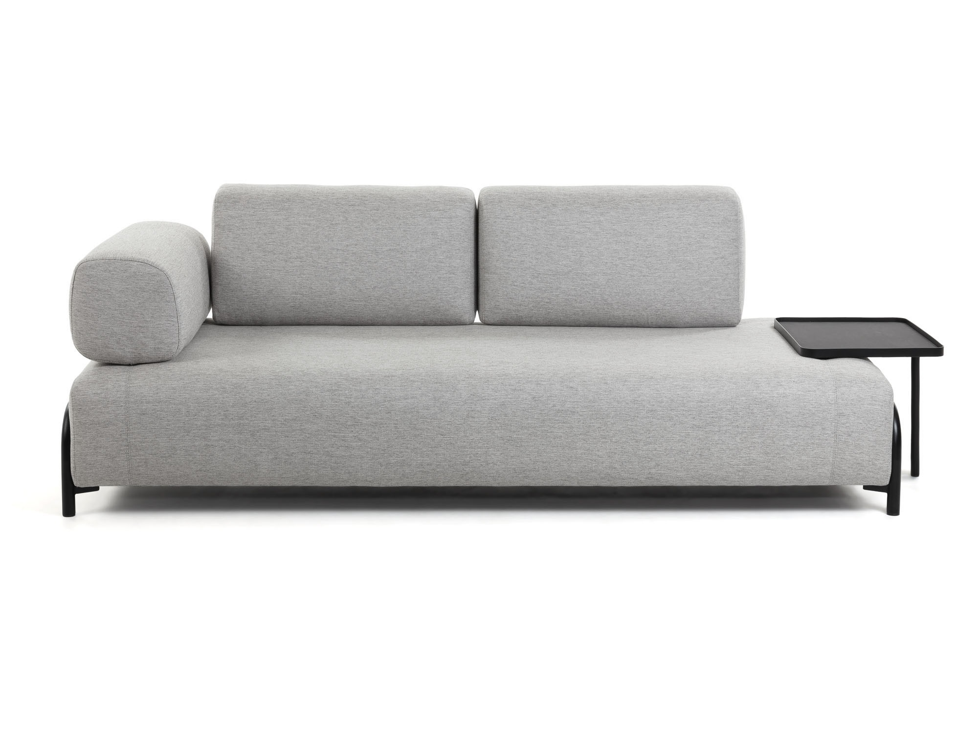 La forma трехместный диван с большим подносом compo серый 128449/5
