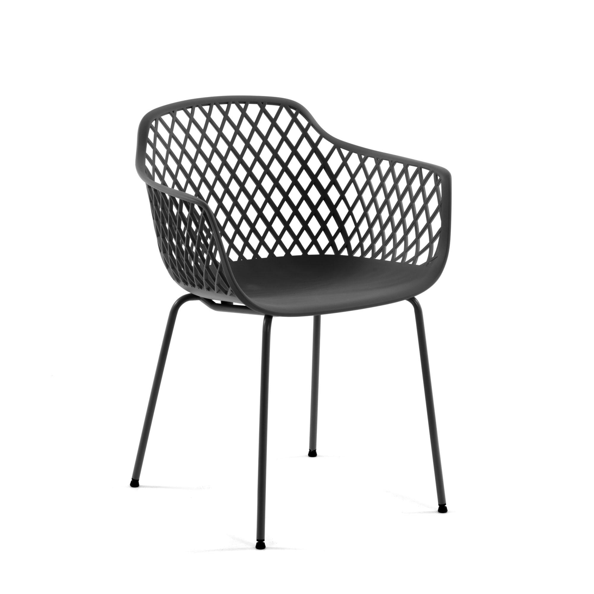 Стул-кресло quinn (la forma) серый 60x80x55 см.