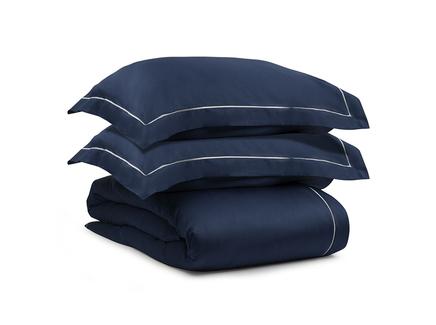 Комплект постельного белья essential (tkano) синий 200x220 см.