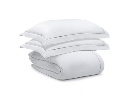 Комплект постельного белья essential (tkano) белый 150x22 см.